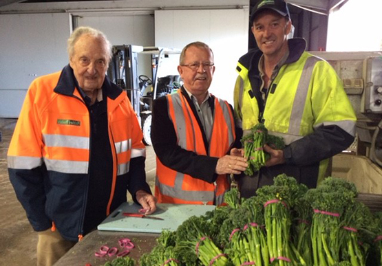 Pitchford Produce owners and Minister Brock