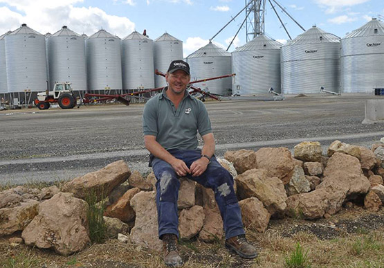 Tom Hage, owner and director of TE Storage and Logistics, received a Regional Development Fund grant which is helping Limestone Coast grain growers reach new markets in Australia and overseas. Image courtesy of The Naracoorte Herald.