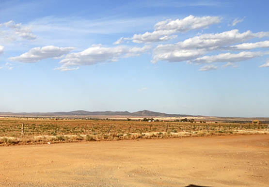 Mid North South Australia with a distant view of the Flinders Rangers